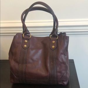 Frye Melissa Tote Wine worm once